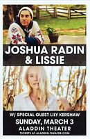 FREE Folk Alt Indie Rock Poster LISSIE My Wild West Ltd Ed New RARE Tour Poster