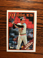 1988 Topps #650 Cal Ripken Baseball Card Baltimore Orioles HOF Raw
