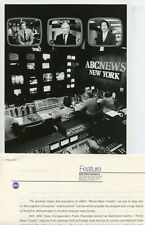 FRANK REYNOLDS PETER JENNINGS MAX ROBINSON ABC NEWS CONTROL ROOM 81 ABC TV PHOTO