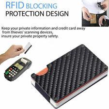 Porta Carte di Credito Tessere con Clip Banconote Fermasoldi in Fibra Carbonio