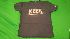 KEEF, (chief keef) men's blue & gray color Large size T shirt, new in package.