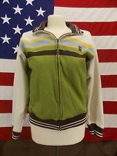 Marc Ecko Cut & Sew Jacket Zip Up Long Sleeve Stripes Men's Size M
