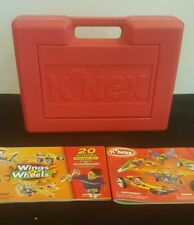 K'Nex Red Carry Case Full w/ 2 Instruction Books - About 3 pounds on knex
