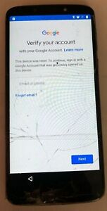 Motorola Moto G6 Forge 16GB XT1922 Black Smartphone Good Used Parts Lock Cracks
