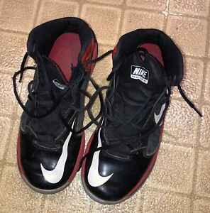 Nike Prime Hype DF Black / Red / Grey Athletic Shoes Size 7