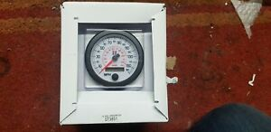 STACK ST3851 Electronic MPH Speedo White Dial  Face 80mm - Custom Bike Car Build