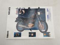 YAMAHA SR125 Motorcycle Sales Specification Leaflet c1996 #3MC-0107012-96E