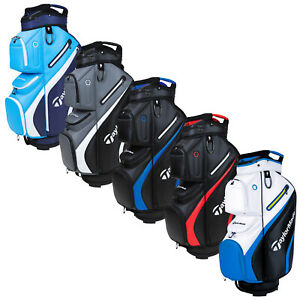 """2021 TaylorMade Deluxe Golf Trolley Cart Bag 14 Way Divider 10"""" Top Full Length"""