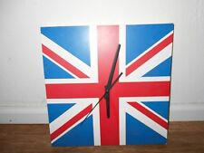 British Themed 11 1/2 x 11 1/2 Stand Up or Wall Mount Clock