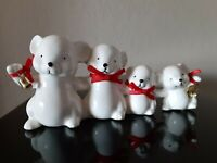 1986 Applause Wintry White Animals on Parade Ceramic Mouse Vintage Christmas