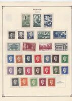france 1942 - 1946  mounted mint and used stamps ref r8538