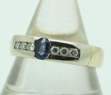 14ct Yellow Gold Sapphire & Diamond Ring