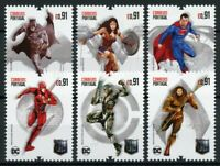 Portugal Superheroes Stamps 2020 MNH Justice League Superman Batman 6v Set