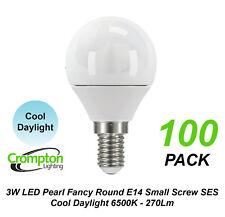 5 X 3w LED Cool Daylight Light Globes Bulbs Lamps Small Screw E14 Ses Pearl