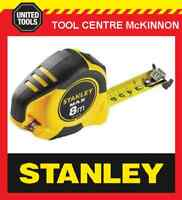 STANLEY MAX 8m BI-MATERIAL DOUBLE-SIDED MAGNETIC TAPE MEASURE WITH CARABINEER