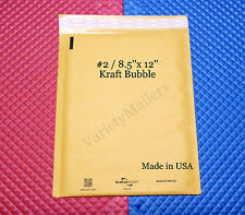 "22 KRAFT BUBBLE POSTAL MAILING ENVELOPES #2  8.5""x12"" PADDED SELF-SEALING MAILER"