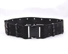 Military StyleGI Pistol Belt Tactical Quick Release Nylon Web Belt Knife Canteen
