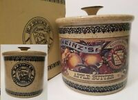 Vintage 1983 Heinz Apple Butter Crock With Original Box Collectable Stoneware