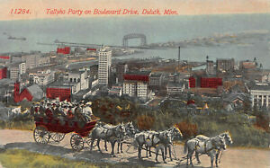 Tallyho Party on Boulevard Drive, Duluth, Minnesota, Early Postcard, Unused