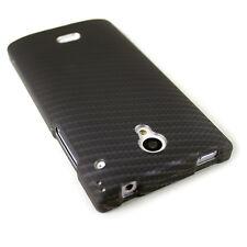 CoverON® For Sharp AQUOS Crystal Case Ultra Slim Snap Cover - Black Carbon Fiber