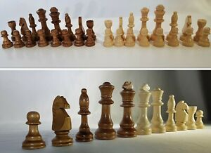 Wooden Chess Pieces, Set of 32 wooden Pieces with a bag ,Size 3''Gift for him