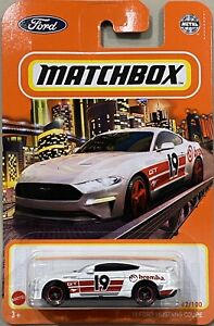 Matchbox '19 Ford Mustang Coupe White Brembo 2021 New Release