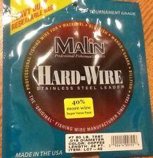 Malin SS Wire Cof 42' .018 Diameter 80 Lb LC7-42
