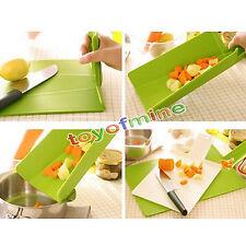 Tabla de cortar plegable plástico práctico cortar bloque Cookin Herramienta