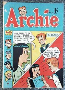Archie #34 Australian vintage comic golden age