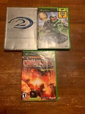 Xbox. 3 Game Bundle. Halo & Halo 2, Crimson Skies. Tested.