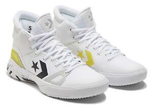 Converse G4 Hi Hi-Vis White Basketball Sneakers Yellow 169512C