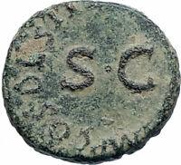 CLAUDIUS Authentic 41AD Rome Food MODIUS Original Ancient Roman Coin i74884