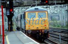 BRITISH RAIL VIRGIN WCML ELECTRIC  LOCOMOTIVE 87001 2003 STAFFORD ORI SLIDE+COPY