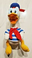 Vintage Donald Duck Plush - Applause - Striped Shirt - Rare - Disney
