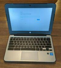 "HP Chromebook 11 G4 11.6""  N2840 2.16GHz 4GB RAM 16GB SSD Chrome OS w/ Charger"