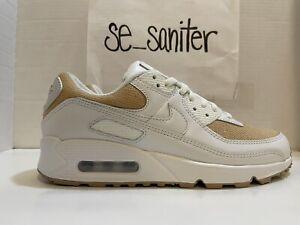 "Nike Air Max 90 Shoes ""Burlap"" Summit White DD9678-100 Men's Size 8"