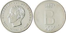 BELGIQUE  , BAUDOUIN  ,  250  FRANCS  ARGENT  1976  DES  BELGES ,  FLEUR DE COIN