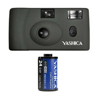 YASHICA MF-1 Snapshot Art 35mm Film Camera Set (Gray)