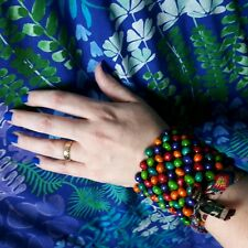 Colourful Beaded Bracelet Elasticated Cuff Fair Trade Eden Project