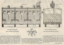 """TRAINS """" SYSTEME ELECTRIQUE DES WAGONS  """" GRAVURE ENGRAVING 1866"""