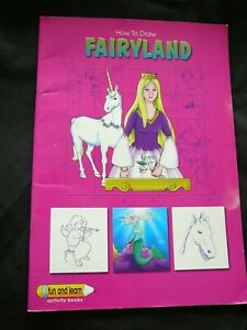 HOW TO DRAW FAIRYLAND, simple to follow instruction book, 30 pages - UNICORNS