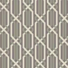 Wallpaper Modern Geometric Criss Cross Link Trellis Metallic Pewter Taupe Beige