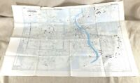 1945 WW2 Military Map of Chiang Mai Thailand Siam Town City Street Plan RARE