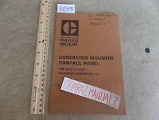 CATERPILLAR Generator Mounted Control Panel Parts Book Manual Oct 1975