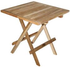 KMH Teak Beistelltisch Klapptisch Anstelltisch Tisch Holz Klappbar quadratisch