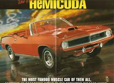 NO CAR) Franklin Brochure/Paperwork Only 1970 Plymouth Hemi-Cuda Conv Red 1/24