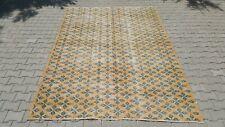 Oushak 7x10 Turkish Rug,turkis Kilim,anatolian rug,Orange,Vintage Bohemian