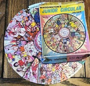 Vintage WADDINGTONS JUNIOR CIRCULAR 170 Piece JIGSAW No 60 Childrens Party 1960s