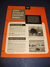 1953 Armco Drainage & Metal Products Inc Catalog Asbestos Bonded Pipe