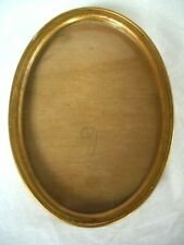 """Vintage Wooden oval Gold picture frame ~6.25""""/16cm tall x 4.5""""/11.5cm wide"""